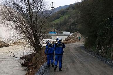 Trabzon TTAKE üyeleri kaybolan polisin arama kurtarmasına katıldı